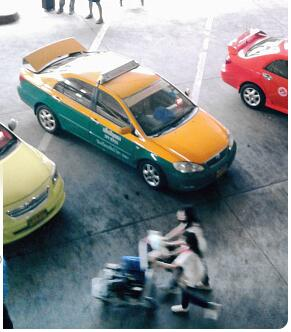 Taxis are a popular ride from Krabi Airport onwards