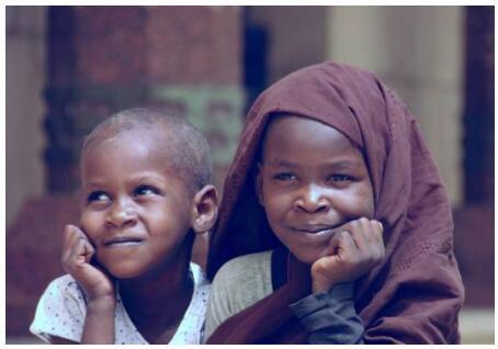 Children in Khartoum in Sudan
