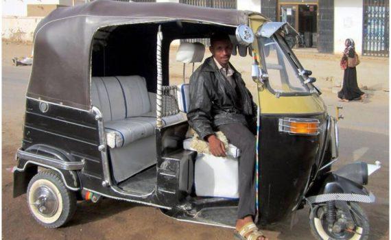Motor rickshaw in Khartoum Sudan