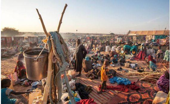 Refugees in the Um Baru camp, North Darfur