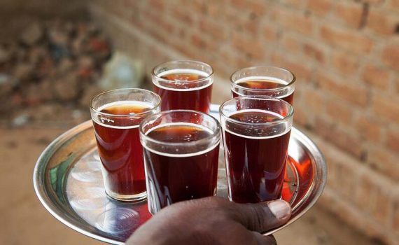 Strong and very sweet tea in Sudan