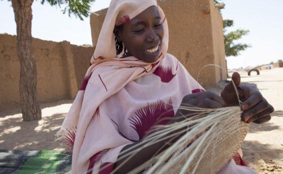 Traditional wickerwork in Darfur Sudan