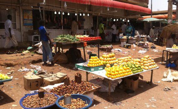 Vegetable market in the outskirts of Khartoum Sudan