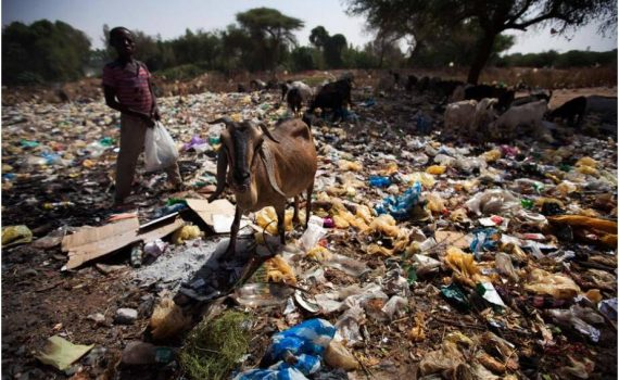 Wild garbage dump in North Darfur Sudan